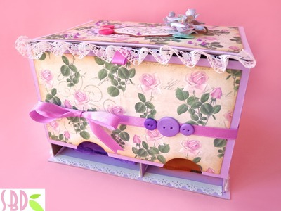 Scrapbooking: Scatola Porta Assorbenti - Panty Pads holder Box