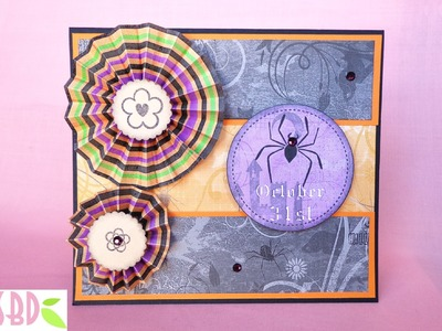 Tecnica scrap: Card Halloween con Rosette - Rosette Card