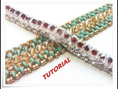 Tutorial bracciale con perline, 2 modelli un solo schema! Sweet Lavender bracelet tutorial