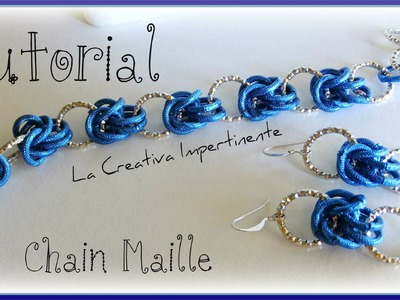 Tutorial Chainmaille - idee per creare con la Mezza Maglia Bizantina - parte 1 |  bracelet, earrings