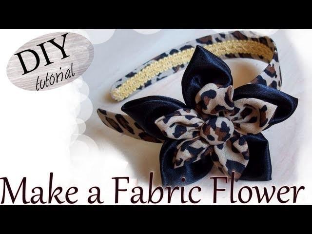 Tutorial: Come realizzare un doppio fiore in stoffa maculata.