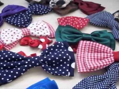 Tutorial: Come realizzare un Doppio Fiocco in Stoffa   - ♥ -    DIY: Double Fabric Bow