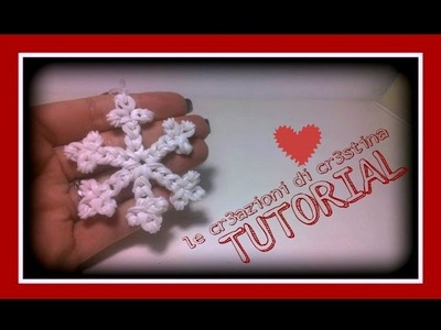 Tutorial Fiocco.Cristallo di Neve con Elastici RAINBOW LOOM - DIY Snowflake Christmas Charm