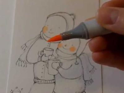 Tutorial illustrazione con markers copic sketch