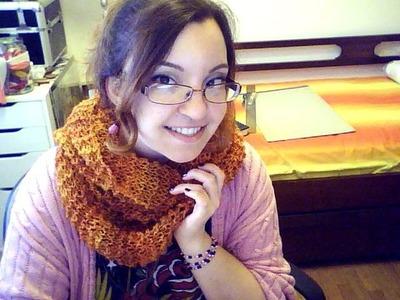 Tutorial knitting 03: sciarpa halloween pt2 - Aggiunta gomitolo, chiusura, errori