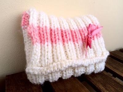 Tutorial knitting 07: Borsina bimba pt2 - cucire un lavoro e applicazione fiocco
