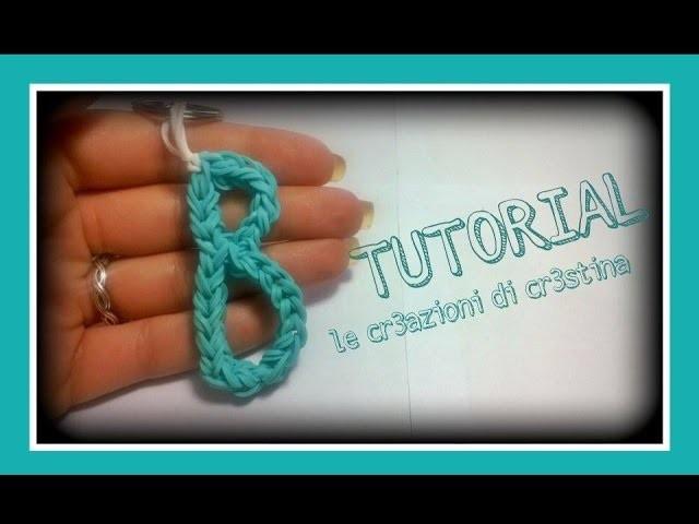 Tutorial Lettera B con Elastici RAINBOW LOOM - DIY Charm Lettere dell'Alfabeto