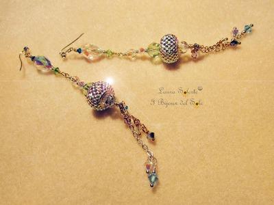 Tutorial Orecchini Niagara di perline miyuki, cristalli e becharmed swarovski