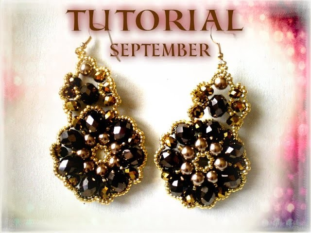 "TUTORIAL ORECCHINI ""SEPTEMBER"" CON CIPOLLOTTI E ROCAILLE, EARRINGS TUTORIAL"