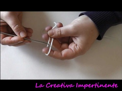 Tutorial Uncinetto: catenella, maglia bassa e maglia alta | DIY Crochet beginner chain single double