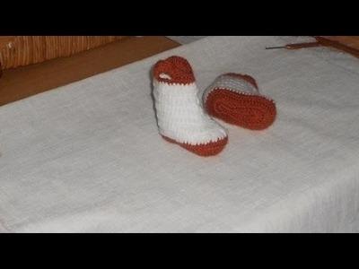 Uncinetto crochet Scarpine Stivaletti per  Neonato