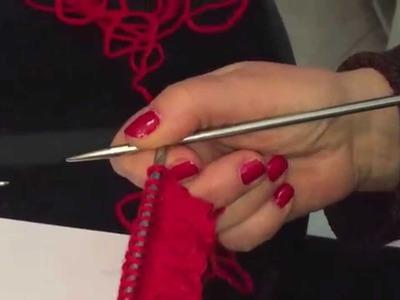 Calare maglie su maniche e colli - crochet