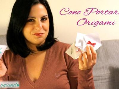 Cono Portariso Origami Tutorial Nozzeggiando
