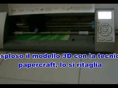 Papercraft, supporto in vetroresina per targa in plexiglass
