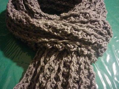 Sciarpa uomo all'uncinetto - Crochet scarf for man