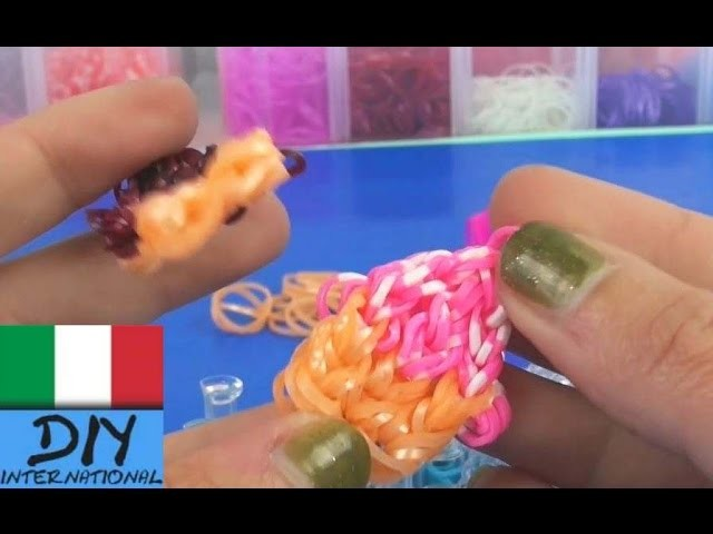 Tutorial cupcakes loom. Loom Bands Cupcake Charm Tutorial Italiano