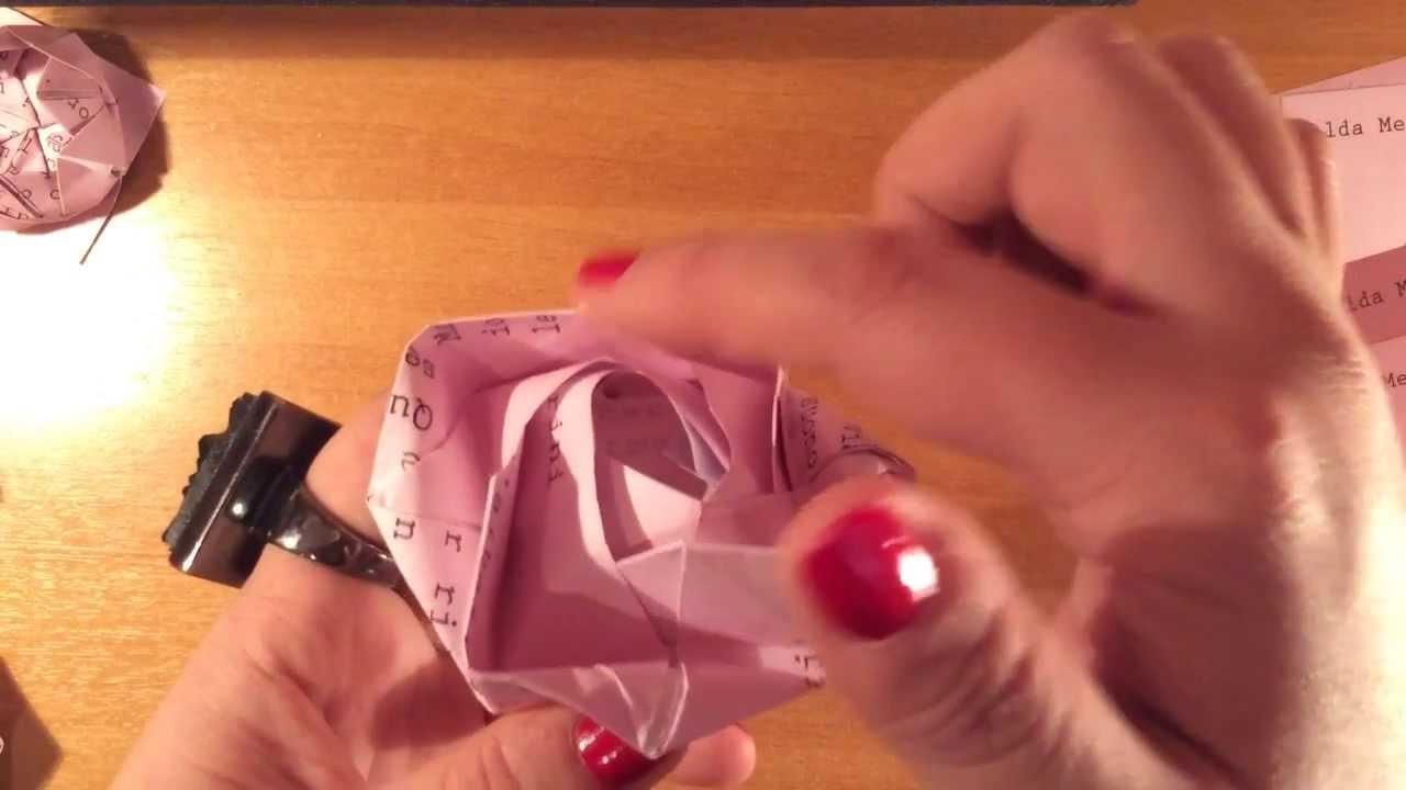 Tutorial Origami Rosa - Progetto MilanoFree DIY