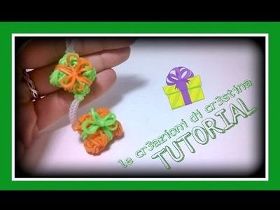 Tutorial Pacchetto Regalo 3D con Elastici RAINBOW LOOM - DIY Christmas Present Charm