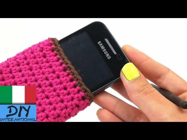 Tutorial portacellulare uncinetto - Samsung Galaxy S3 conchiglia con uncinetto rosa DIY