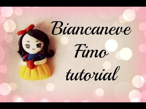 ♡ Biancaneve in fimo - tutorial. Snow White Polymer Clay - Tutorial ♡