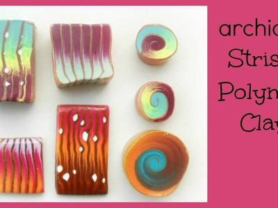 Polymer Clay Tutorial | Murrine a Spirali e Strisce | Spiral & Stripes Canes | SUBTITLES NOW!