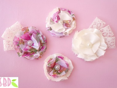 Tutorial Fiori di Stoffa - Fabric Flowers