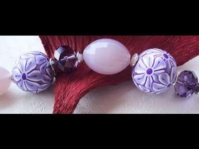 Perle a Fiori Lilla (tutorial)