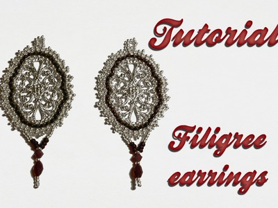 "[ Beadwork ] Tutorial ""Filigree Earrings"" 