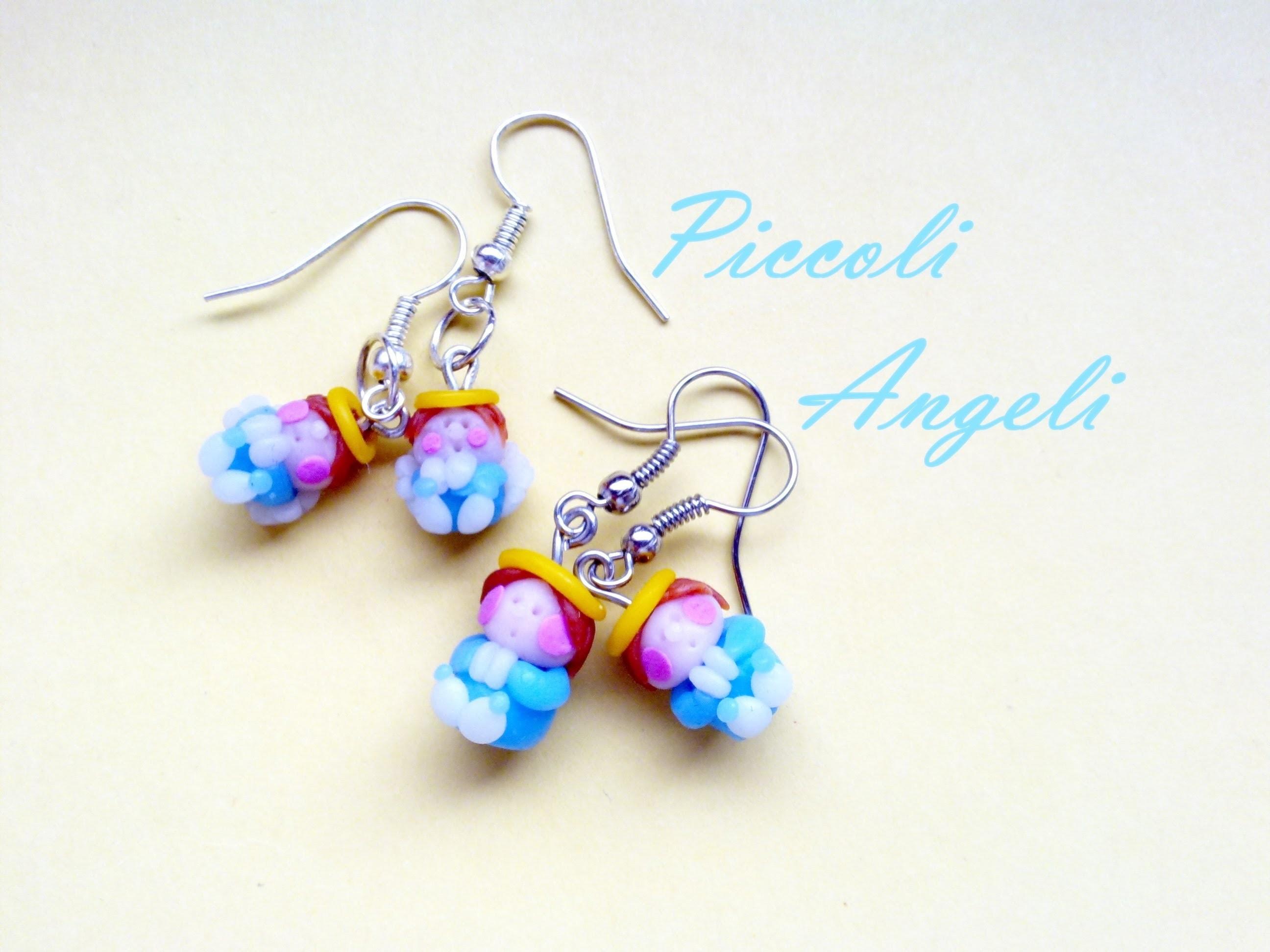 DIY Piccoli Angeli: Orecchini in Cernit  -  Little Angels Earrings (Polymer Clay Tutorial) O:-)