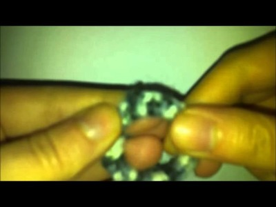 DIY TUTORIAL: Orecchini cerchio uncinetto con materiale da riciclo How to Crochet Earrings