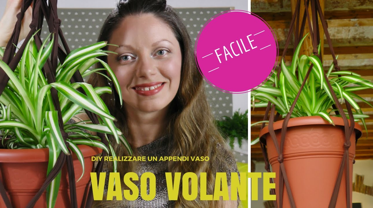 DIY Vaso volante: Come realizzare un portavaso in sospensione⎮Fai da te⎮Home Decor⎮Idea facile