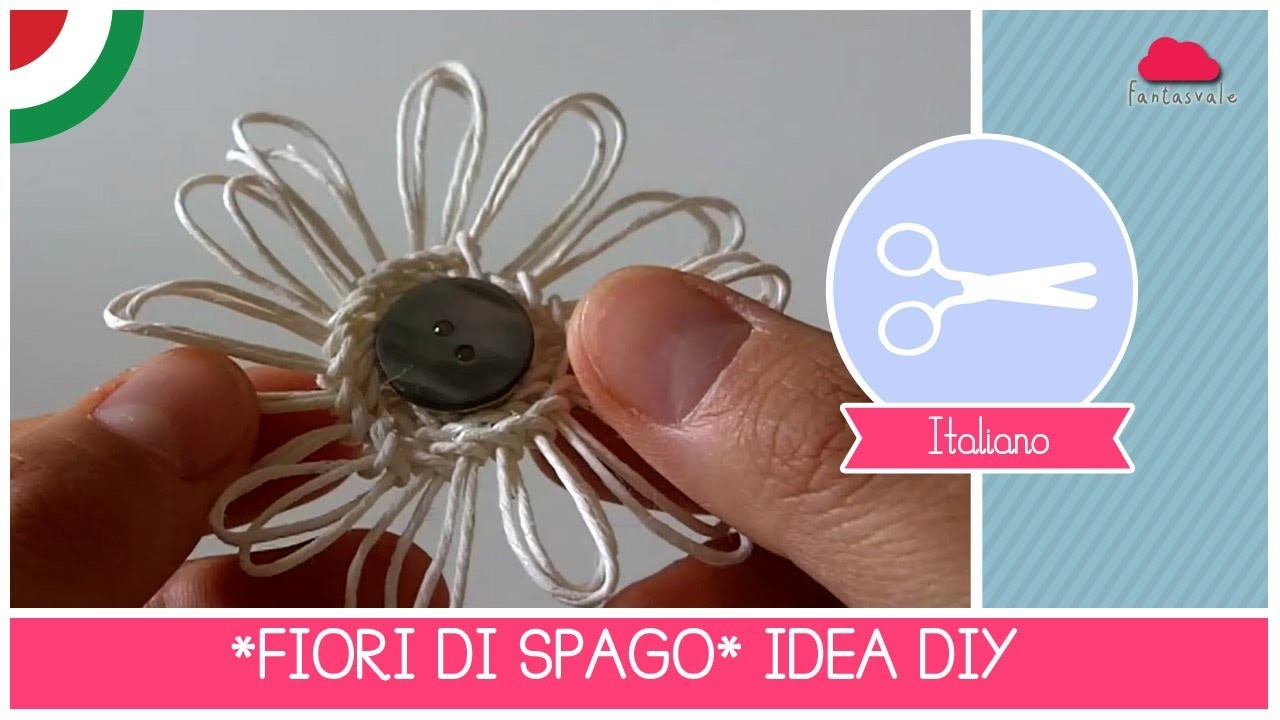 FIORI di SPAGO: Tutorial DIY Crafting by Fantasvale (Super FACILE!)