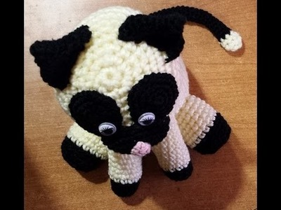 Gatto fermaporta all'uncinetto -tutorial amigurumi crochet - cat crochet -  ganchillo gato