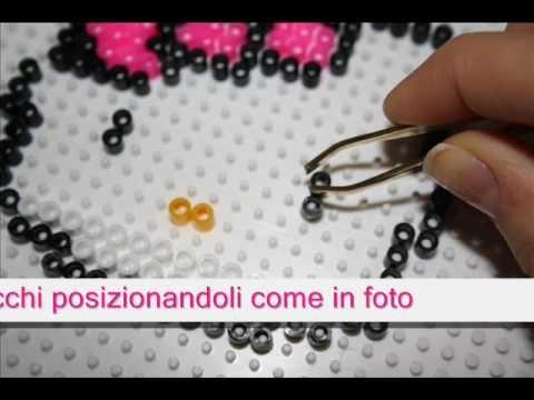 """HELLO KITTY hama beads.pyssla- Concorso Clio """"Le Passioni"""""""