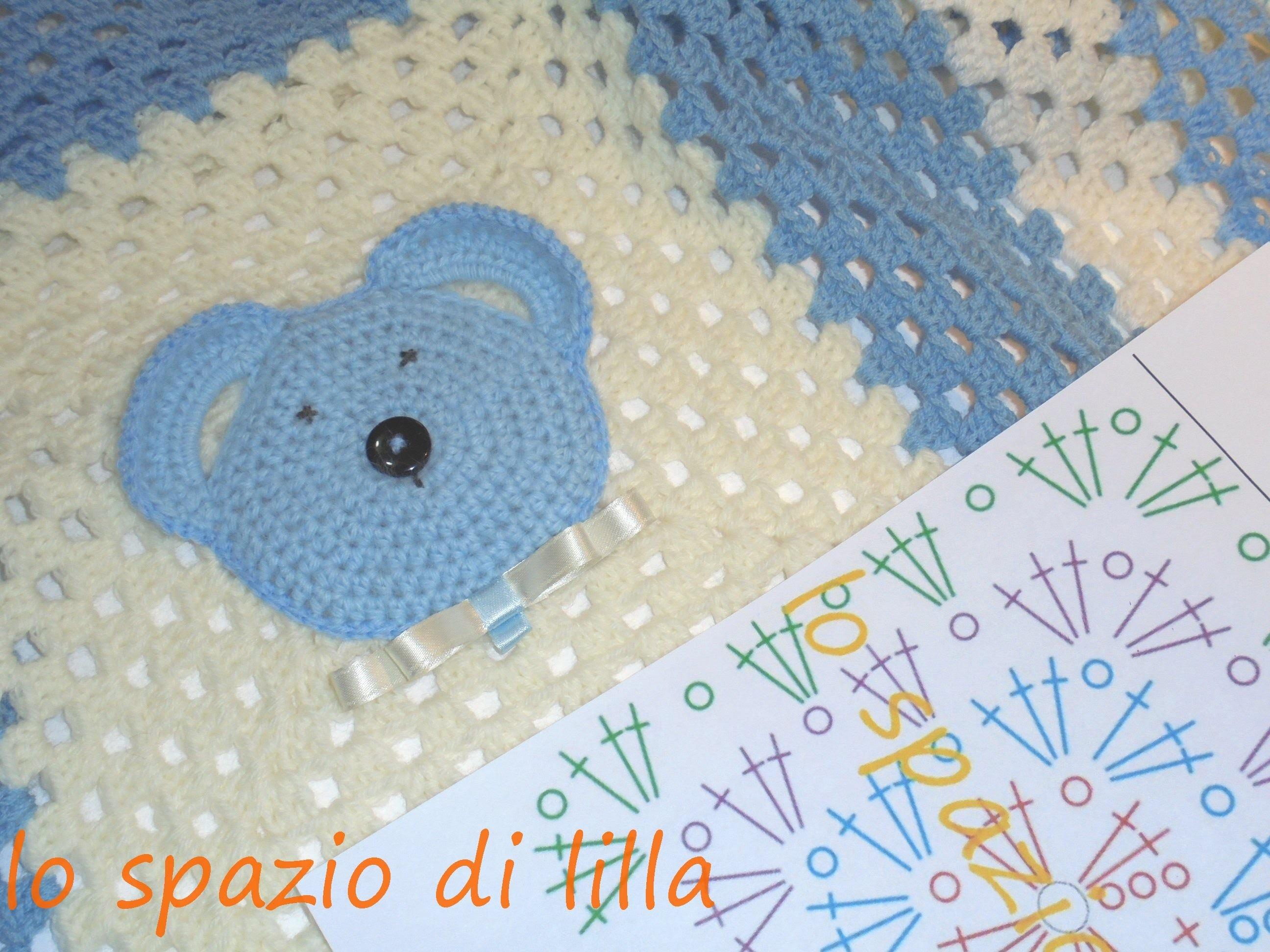 Lilla's tutorials: the Big Granny crochet blanket. La mattonella crochet Big Granny