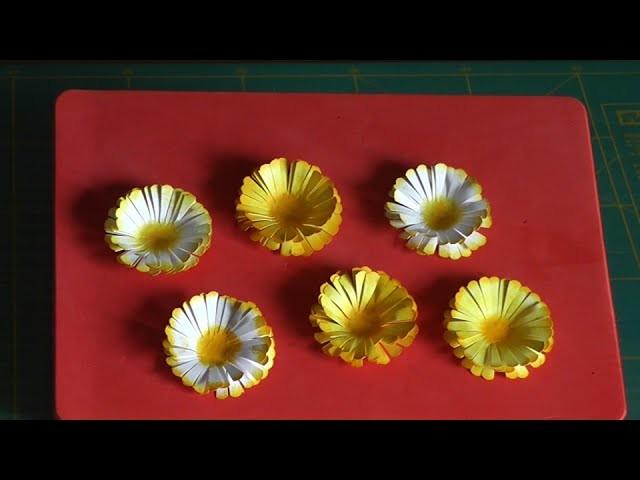 Margherite di carta scrapbooking tutorial - Daisies of paper - flowers tutorial