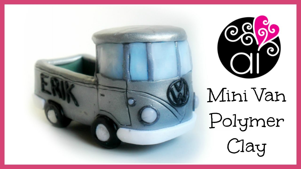 Mini Van VolksWagen | Polymer Clay Tutorial | DIY Birthday Cake Topper | Furgoncino in Fimo