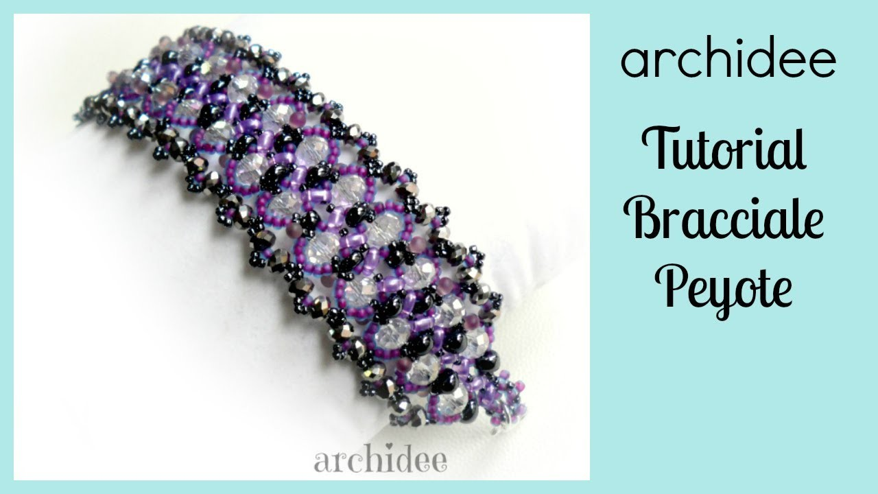 Peyote | Tutorial | DIY Beadwork | Violet Princess Bracelet | Twin Beads | Magatama | with SUBTITLES