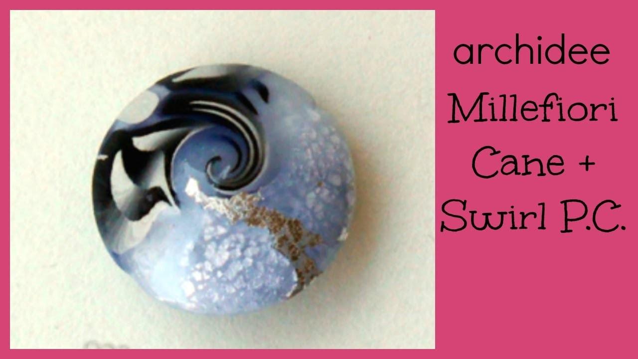 Polymer Clay Tutorial | Murrina Black & White Star Flower | DIY Swirl
