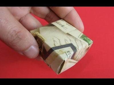 Scatola rettangolare origami  Origami Box Instructions 折り紙 折纸