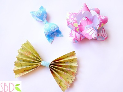 Scrapbook: Tre tipi di Fiocchi di carta - three types of Paper Bows