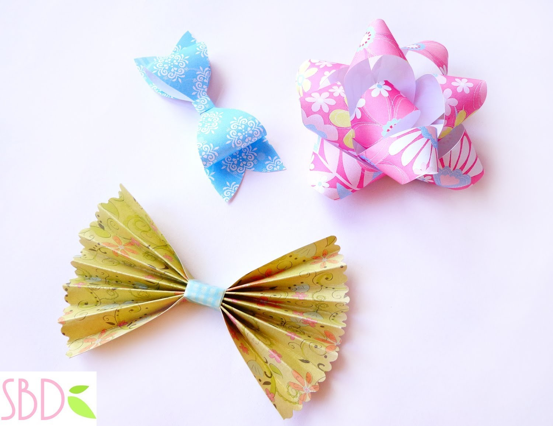 Scrapbook: Tre tipi di Fiocchi di carta - three types of Paper Bows