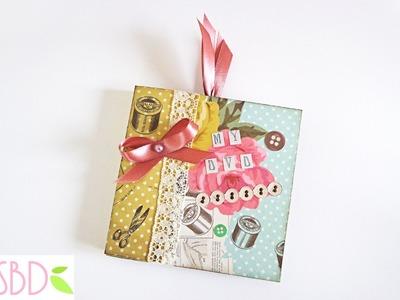 Scrapbooking: Mini Album porta CD - CD Holder Mini Album
