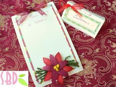 Scrapbooking tutorial: Menu e Segnaposto Tavola di Natale - Menu & Placeholder