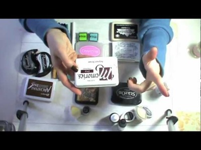 Tutorial attrezzature scrapbooking: Inchiostri.Tamponi per timbri - Basi Scrapbooking