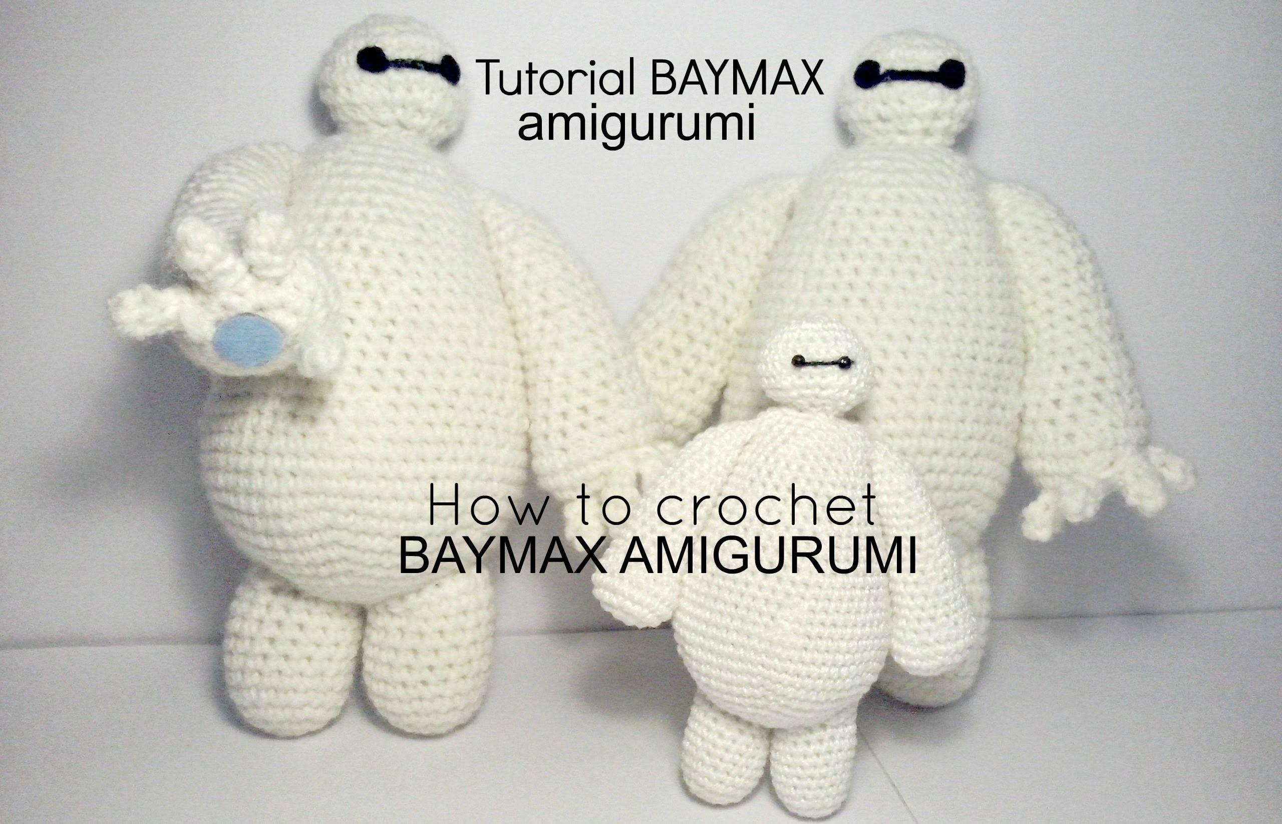 Tutorial BAYMAX big hero 6   HOW TO CROCHET BAYMAX AMIGURUMI - PART II
