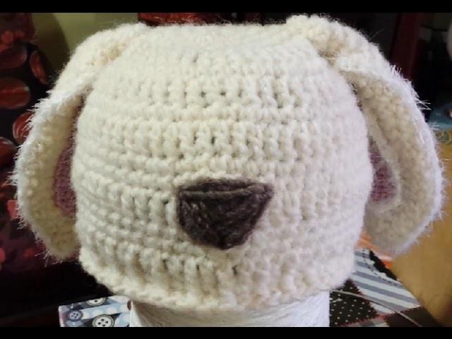 """Tutorial cappello bimbi all'uncinetto con le """"orecchie"""" - Crochet Hat - sombrero crochet  con orejas"""