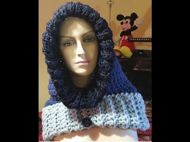 Tutorial Cappuccio all'uncinetto - crochet hood - capucha crochet