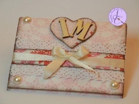Tutorial: Card\mini-album shabby per S.Valentino (shabby card\mini-album for Valentine) [sub-eng]