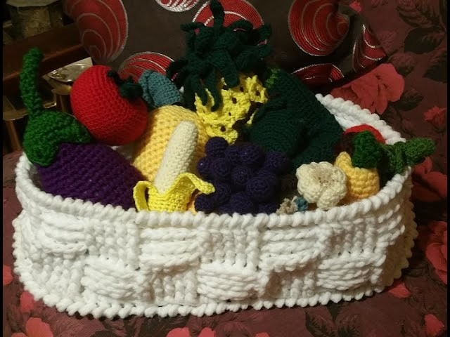 Tutorial cestino all'uncinetto - crochet basket - cesta crochet